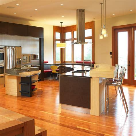 idee de cuisine cuisine idee cuisine ouverte sur salon avec blanc couleur