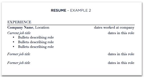Updating Your Resume For A Promotion by Updating Your Resume With At One Company