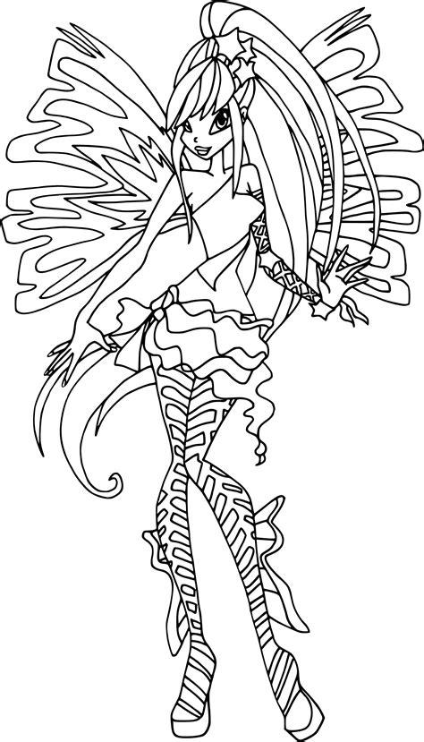 disegni da colorare winx stella coloriage stella sirenix winx 224 imprimer