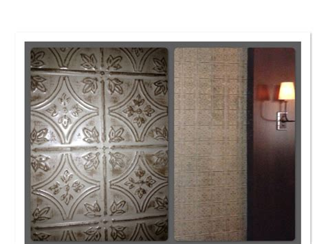 faux wall tile faux tin tile walls in restaurant dining room
