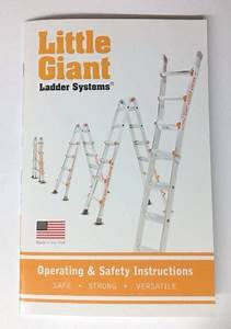 Little Giant Ladder Operating And Safety Instructions