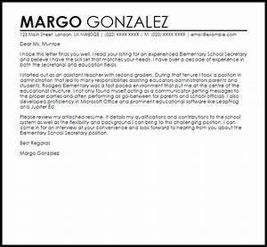 cover letter sample for school secretary position With cover letter for secretary position at school
