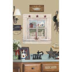 country bathroom decorating ideas outhouse window signs wall stickers decals country