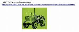 Download Iseki Tractor Manuals Here