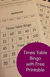Print Times Table Chart Times Table Bingo With Free Printable The Life Of Spicers