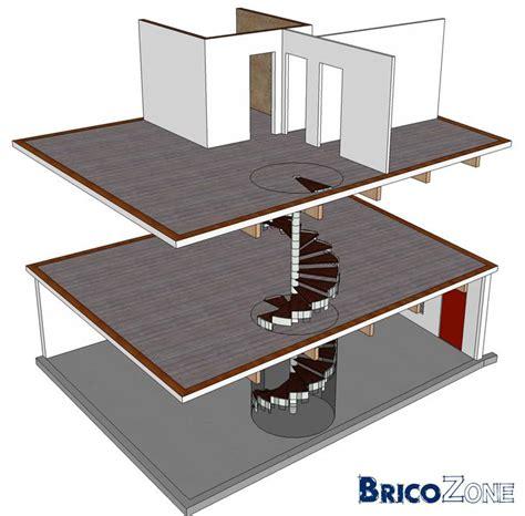 escalier spirale sur 2 niveaux