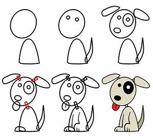 How to draw cartoon puppies