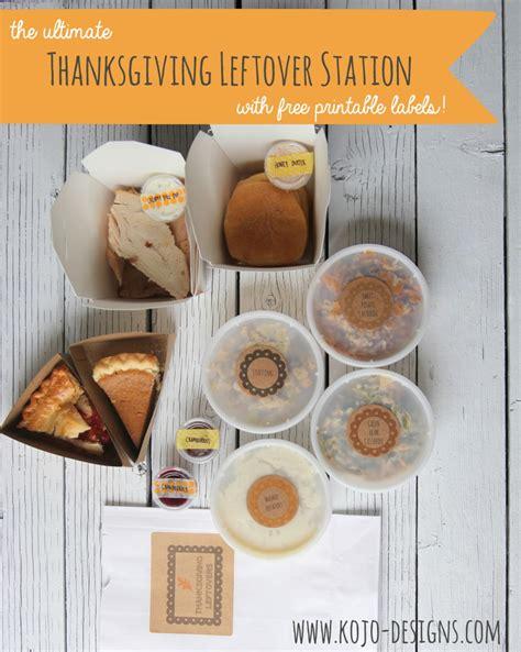 thanksgiving leftover station   printable