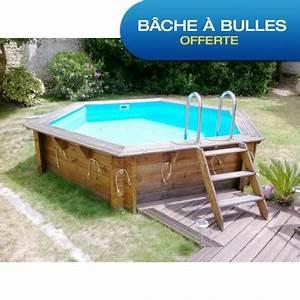 Piscine Bois Ubbink : piscine bois hexagonale diam 410cm azura toute quip e ubbink ~ Mglfilm.com Idées de Décoration