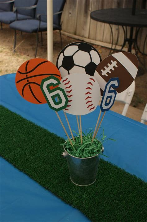 sports party centerpiece sports theme baby