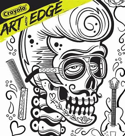 Crayola Sugar Skulls Coloring Edge Splash
