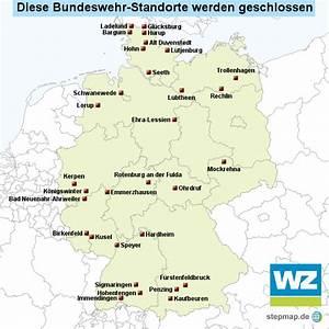 Standorte Der Bundeswehr : schlie ung bundeswehr standorte von wznewsline landkarte f r deutschland ~ Watch28wear.com Haus und Dekorationen