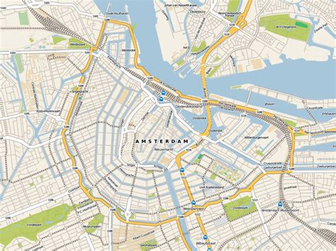maps  amsterdam detailed map  amsterdam  english