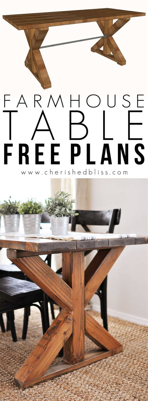diy country kitchen table x brace farmhouse table free plans cherished bliss 6808