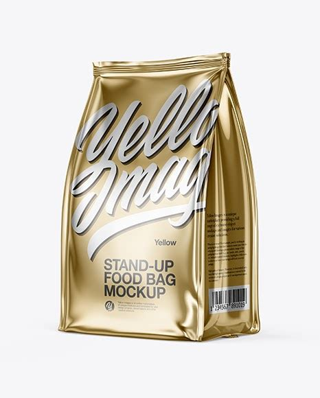 You can create a free account now. Metallic Food Bag Mockup - Half Side View | Mockups ...