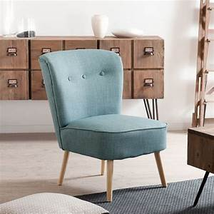 Fauteuil Bleu Scandinave : fauteuil crapaud tissu bleu karine univers salon et assises ~ Teatrodelosmanantiales.com Idées de Décoration