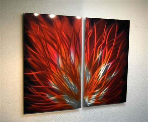 30 Wall Decor Ideas For Your Home: Abstract Metal Wall Art- Contemporary Modern Decor