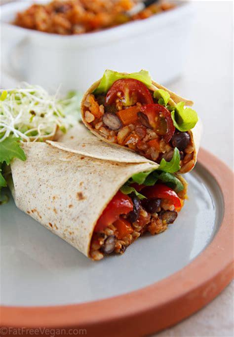 burritos  spanish rice  black beans fatfree vegan