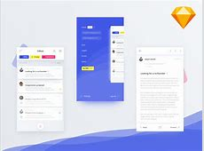 Mail Client App UI Kit Concept for Sketch FreebiesUI
