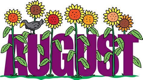 August Clip August Floral Clipart For Screen Saver Quotes