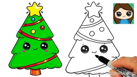 draw  christmas tree  star easy  cute kids