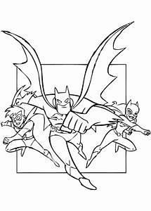 Robin, Batman and Superman Coloring Page : Super Hero Movie