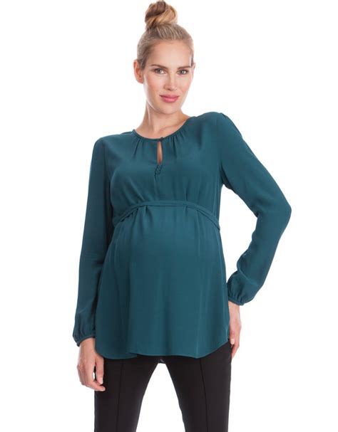 pregnancy blouses emerald keyhole maternity blouse seraphine