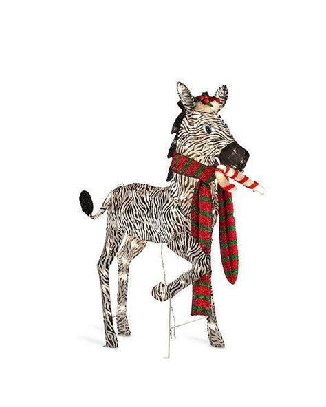 lighted pre lit jungle animal zebra sculpture outdoor