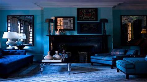 dark blue interior designs beautiful blue living room