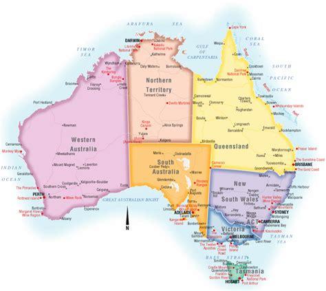 australia political map pictures map  australia region