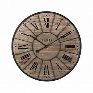 Horloge En Metal : horloge en bois et m tal d 90 cm valmy maisons du monde ~ Teatrodelosmanantiales.com Idées de Décoration