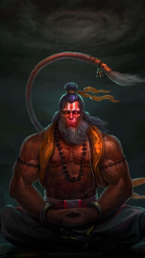 Lord Hanuman Animated Wallpapers - lord hanuman meditation iphone wallpaper iphone wallpapers