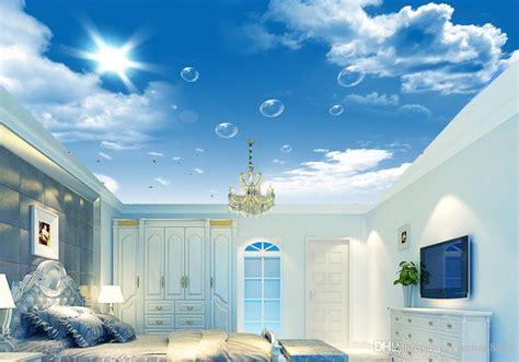 custom  sky ceiling wallpaper hd blue sky white