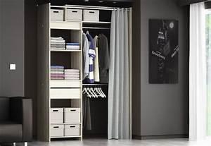 Dressing Rideau Ikea : d co des id es pour emm nager un dressing dans une chambre ~ Dallasstarsshop.com Idées de Décoration