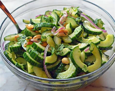 thai cucumber salad  peanuts    chef