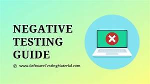 Negative Testing Guide