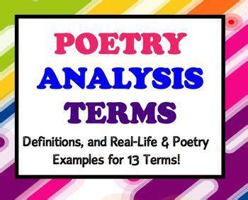 poetry terms figurative language  english