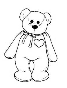 Beanie Baby Bear Coloring Pages