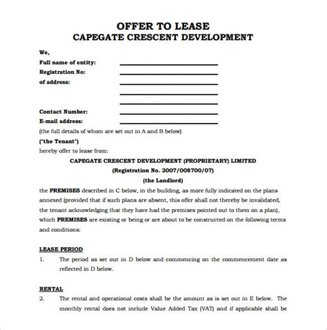 Office Space Rental Agreement by 10 Office Lease Agreement Templates Free Sle