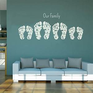 Personalised footprint wall art stickers by name