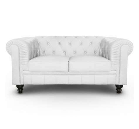 canape chesterfield simili cuir canap 233 chesterfield blanc capitonn 233 en simili cuir 2 places www tooshopping