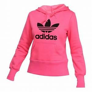 Sweat A Capuche Femme Marque : adidas originals sweat capuche trefoil femme rose indien achat vente sweatshirt cdiscount ~ Melissatoandfro.com Idées de Décoration