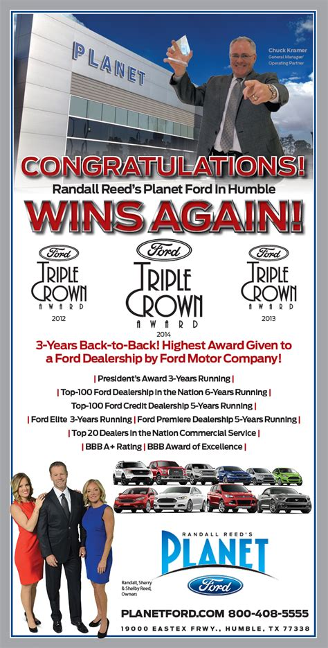 Planet Ford Wins Multiple Back to Back Awards   Planet