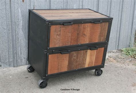 vintage industrial style file cabinet filing mid century