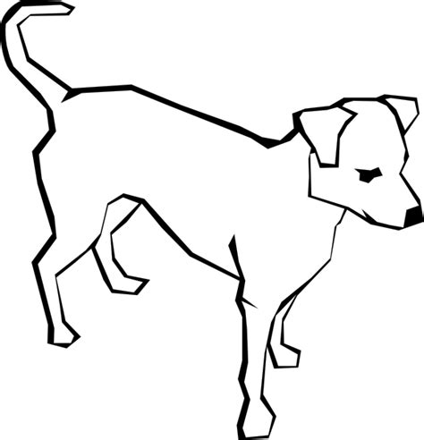 dog outline animal clip art  clkercom vector clip art