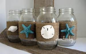 Image of: Fine Day Mason Jar Wedding Party Decoration Applicable Beach Theme Décor With Fresher Ideas And Results