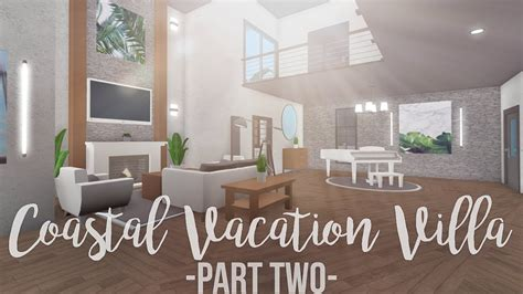 bloxburg coastal vacation villa  part  youtube