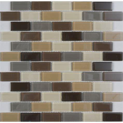 kitchen backsplash tile stickers avenzo 12 in x 12 in avenzo mosaic beige glass wall tile lowe 39 s canada