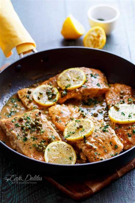 easy salmon piccata cafe delites