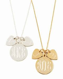 sarah chloe sonya layered letter monogram necklace With chloe letter necklace